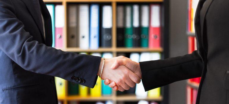 a trustworthy handshake