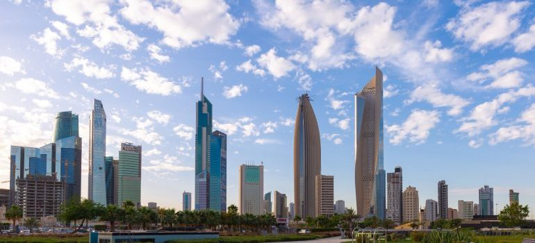 View of Kuwait City from Al Shaheed Park