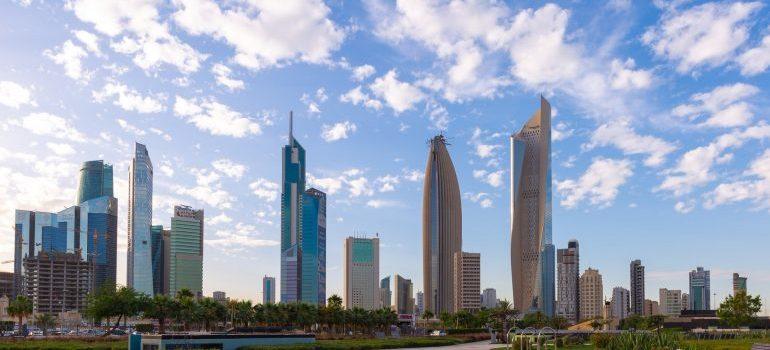 Kuwait city clouds