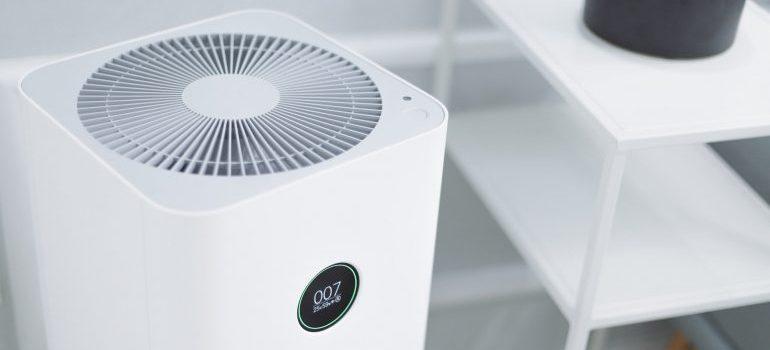 upright portable fan