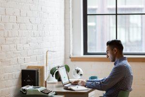 Man sitting in an office