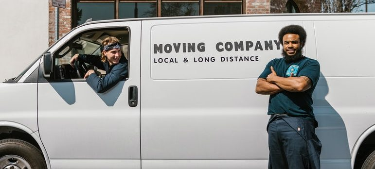 Movers and a moving truck