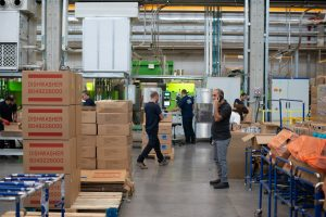 People in warehouse