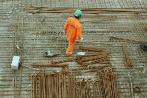 Man at a construction site