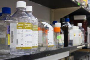 Chemicals on shelf