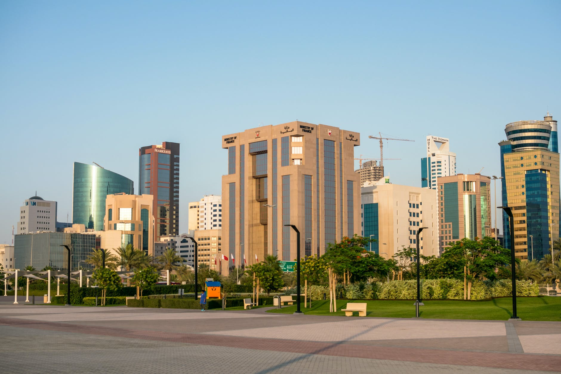 Skyline buildings and reasons why Europeans move to Bahrain