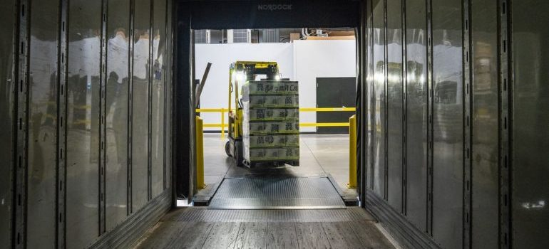 Storing items in shipping storage