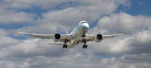 Air plane transporting air cargo